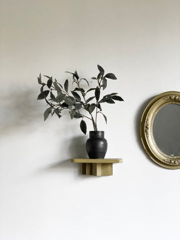 vintage tiered wall sconce shelf