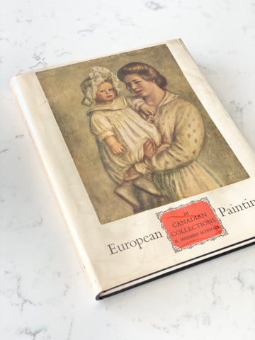 "vintage art reference book, ""European paintings in Canadian Collections"""