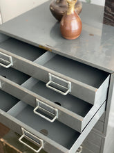 Load image into Gallery viewer, large vintage metal stationer's cabinet