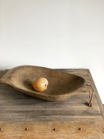antique wood trencher bowl