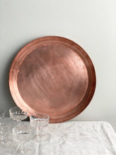 Load image into Gallery viewer, vintage solid copper tray