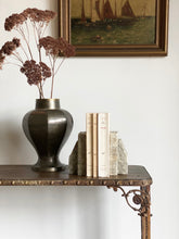 Load image into Gallery viewer, vintage art deco style bronze vase