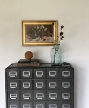 Load image into Gallery viewer, vintage index card cabinet