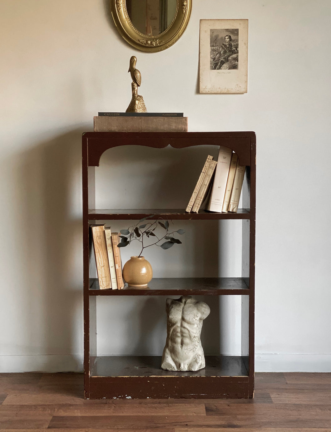 vintage book shelf unit