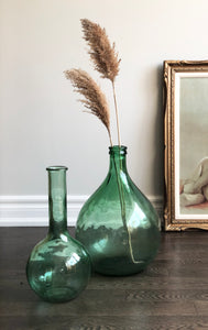 vintage green decanter style bottle
