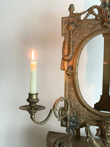 Art Nouveau French brass piano sconce frame