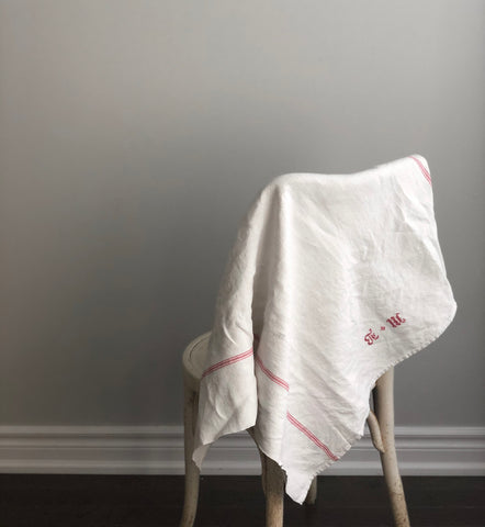 oversized French linen kitchen towels