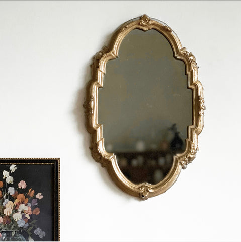 vintage cast iron mirror