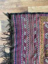 Load image into Gallery viewer, vintage handwoven kilim runner
