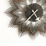 German brutalist nail art sunburst clock