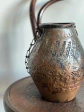 Load image into Gallery viewer, vintage hand forged metal vessel