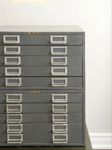 large vintage metal stationer's cabinet