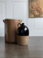 Load image into Gallery viewer, antique French stoneware preserving crock