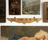 "vintage French hand painted ""station of the cross"" ecclesiastical signs"