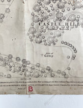Load image into Gallery viewer, antique linen-backed street plan of Buckinghamshire II