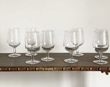 Load image into Gallery viewer, set of 8 vintage French wine glasses