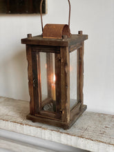 Load image into Gallery viewer, reclaimed wood lantern