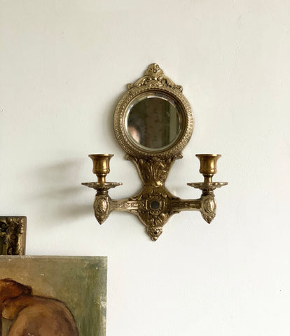 vintage mirrored candle sconce