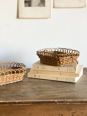 pair of French woven baskets