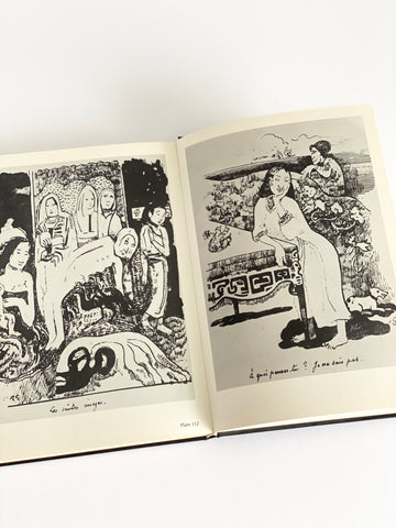 "Vintage art book, ""the drawings of Gaugin"""