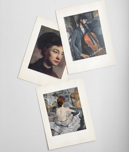 vintage French art book prints