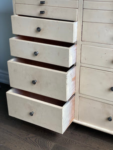 early 20th C. antique dental drawers