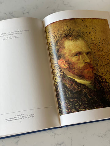 "vintage art book, ""Van Gogh: self portraits"""