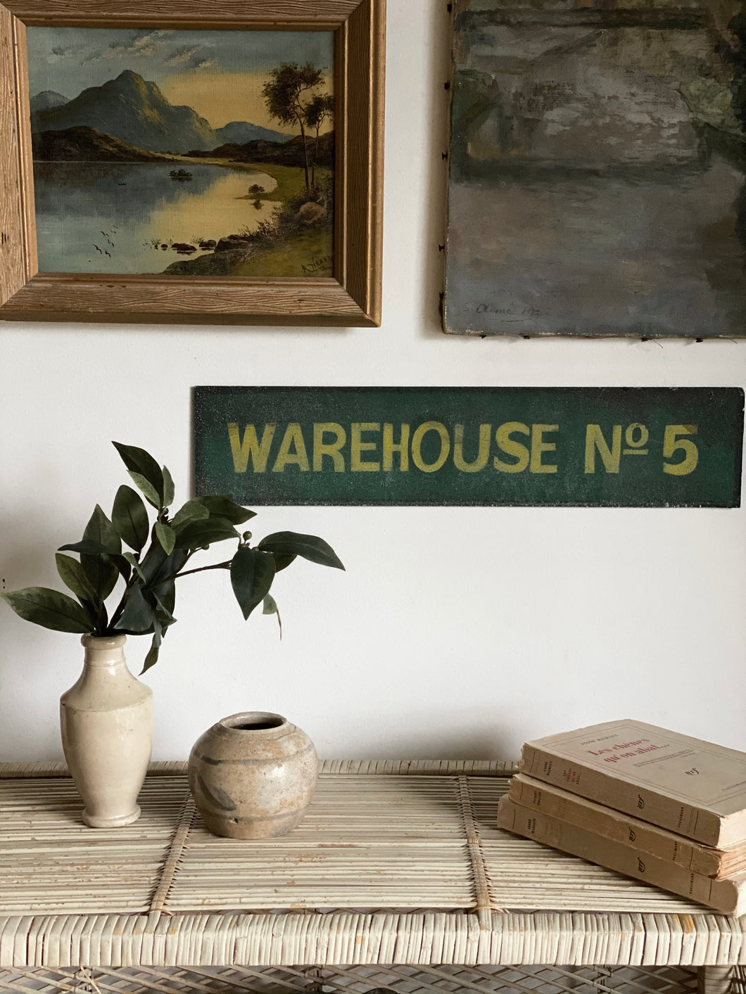 antique warehouse sign