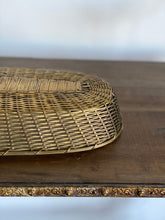 Load image into Gallery viewer, vintage woven brass basket