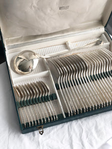Set of 36 vintage silver plated cutlery