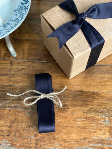 vintage French ribbon, deep navy