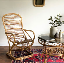 Load image into Gallery viewer, vintage bamboo dining set