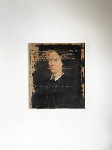 distressed portrait of a woman