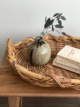 Load image into Gallery viewer, large vintage rattan and willow tray