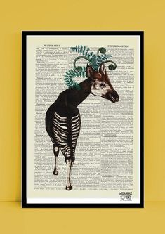 AFRICAN UNICORN VINTAGE PRINT by Justine Woycicka