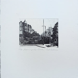 cat outram etching morningside clock