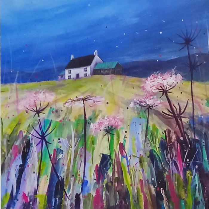 HIGHLAND HILLSIDE COTTAGE  by Pam Mckenzie