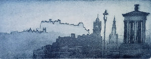 EDINBURGH SKYLINE AT DAWN by John Heywood