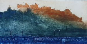 EDINBURGH CASTLE IN EVENING by John Heywood