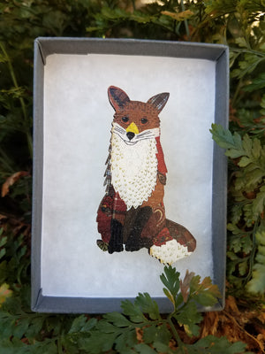 FOX SEW N SEW  BROOCH