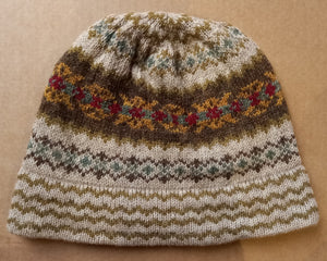 OLD SHETLAND BEANIE HAT - LATHER by HEATHER KNITS