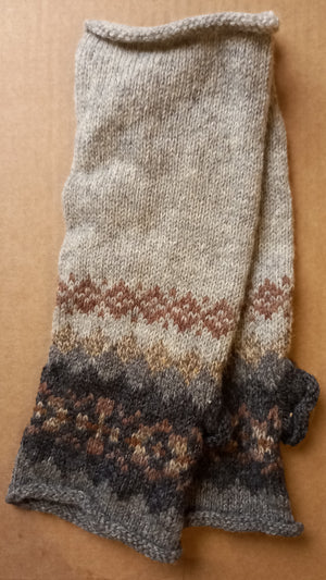 GREY SHADED MITTS by HEATHER KNITS