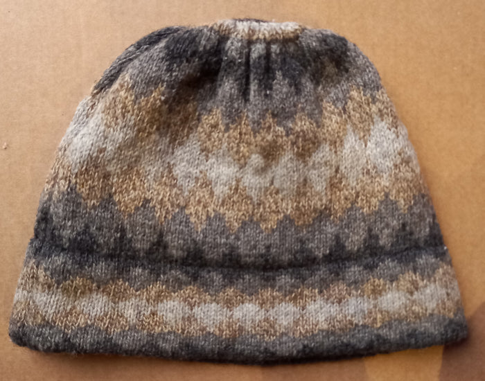 GREY SHADED BEANIE HAT - by HEATHER KNITS