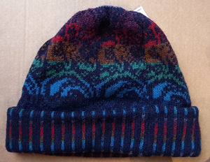 PAISLEY TURNUP HAT - COLOURS  by HEATHER KNITS