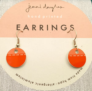 RUNNING STITCH DROP EARRING by Jenni Douglas