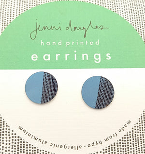 BALANCE  CIRCLE STUD EARRING TEAL by Jenni Douglas
