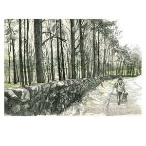 DOG WALK PRINT by Hannah Longmuir