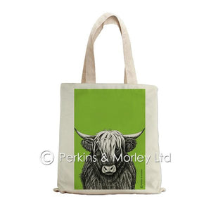 HIGHLAND COW INK TOTE BAG