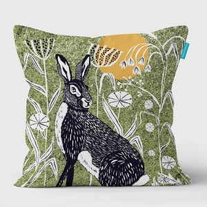 HARE WILDER CUSHION - GREEN