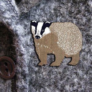 BADGER WILDER  BROOCH